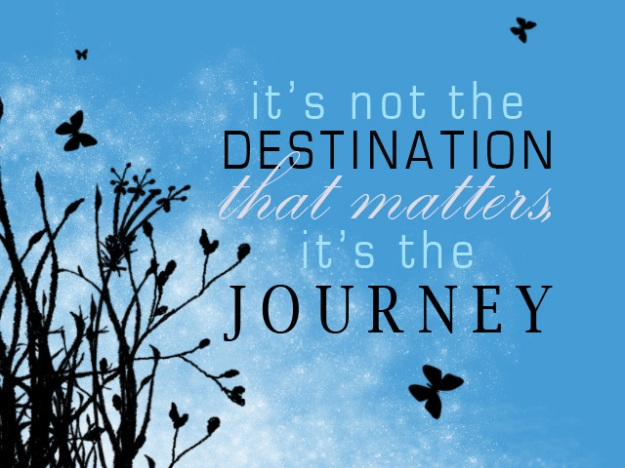journey vs destination A journey is the path you take to reach a destination imo everyone should journey at least once to a destination living in the now is short sighted and dangerous.